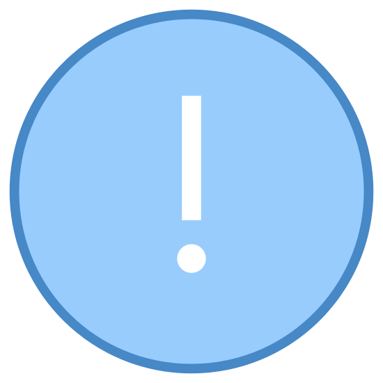 High Importance icon. It is an exclamation point inside of a circle. Outside the circle there is another slightly larger circle just around it, creating almost a embossed or a three dimensional look.