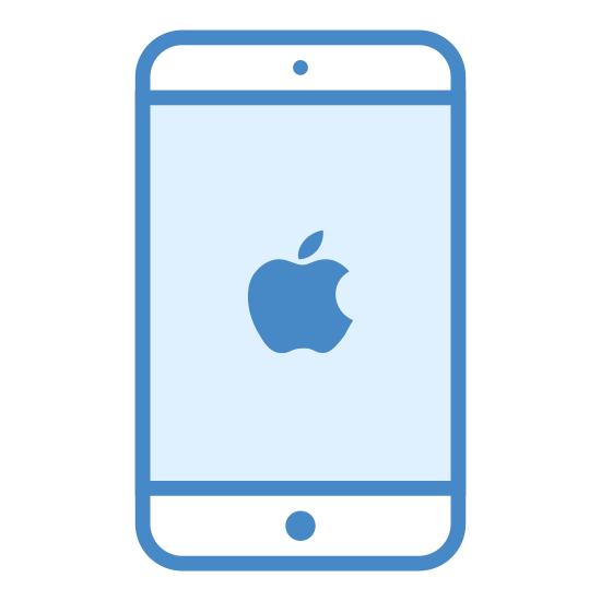 iPhone icon. The iphone is a rectangular object that fits in your pocket. It is a sleek with a touch screen for easy mobilization. It also has a cover to it.