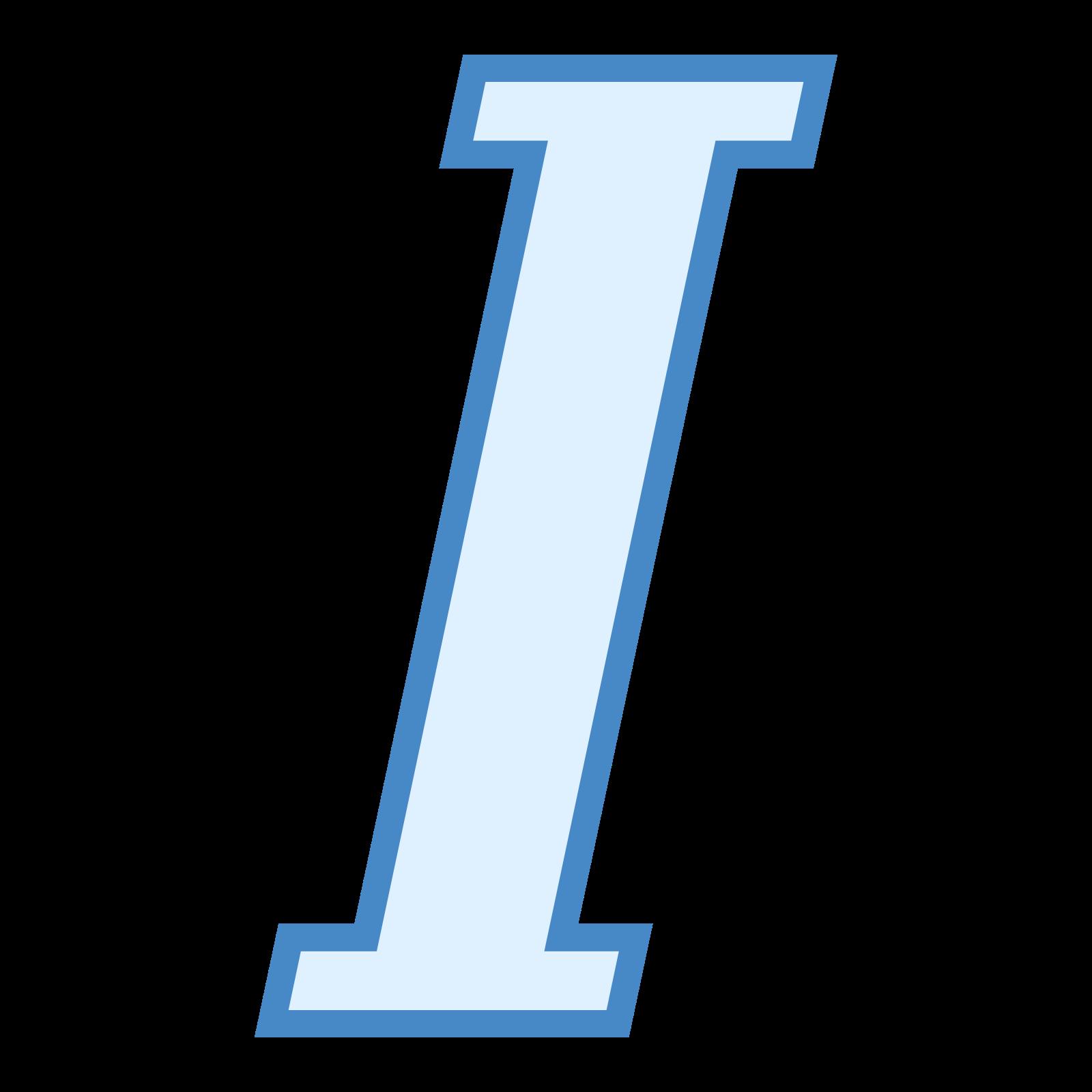 Kursywa icon
