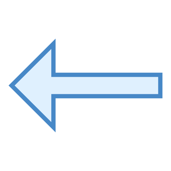 Lewo icon. This is an icon of an arrow pointed to the left. It looks like one that people put up to explain to turn left when giving directions. It is not very graphic it just consists on simple lines pointing left.