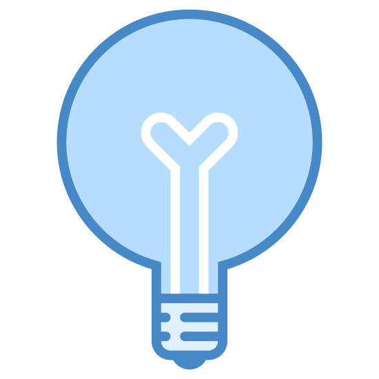 Light icon. It's a logo of Globe Bulb reduced to a light bulb. This logo has a dark outline and looks like an ordinary white bulb, pretty much like the logo on Globe Bulb.