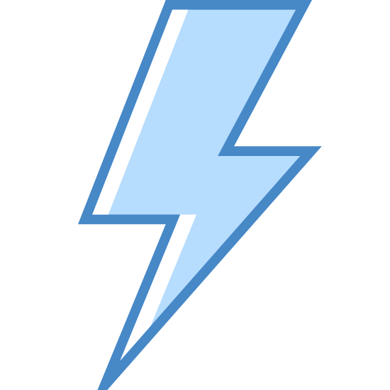 Lightning Bolt icon. This is a figure of a lighting bolt. The lightning bolt consists of a rhombus like figure pointing downwards, another rhombus figure pointing horizontally, and a final triangular shape pointing downwards.