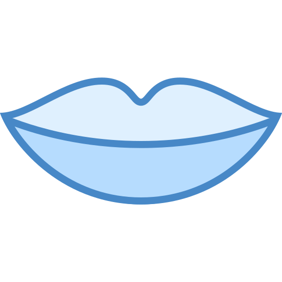 Lips icon. This image is of human lips. There is a top and bottom lip. The lips are in the pose of neutral. The lips are not smiling or frowning. The lips are just there. The top lip has a dip in the upper center part.