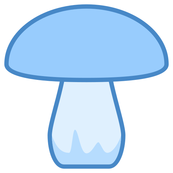 Mushroom icon. The mushroom is round on top and rectangle on bottom shaped like a tree. It goes on to show that this mushroom is used on  pizzas in the united states and all over the world. It tastes good and could be a good topping but it may not be if its rotten.