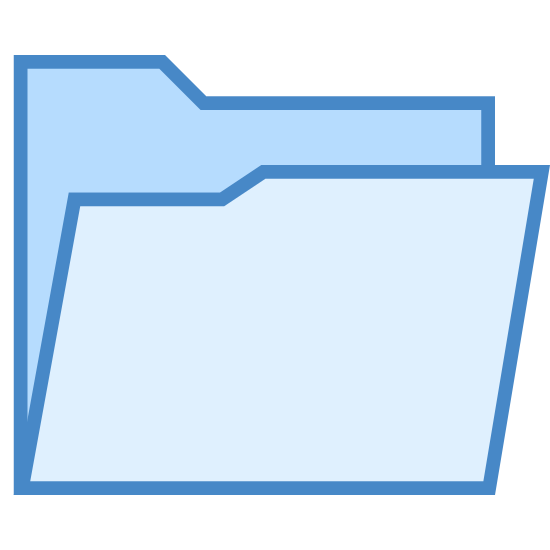 Ordner öffnen icon. The open folder icon for pc. Manila folder that's slightly open, where files are stored. The tab is at the top left in this variant. This is what people double click to get to their information on computers.