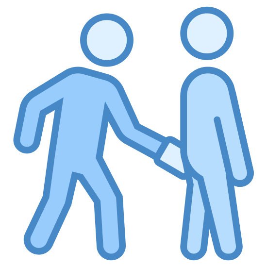Pickpocket icon. There is a single person standing behind another person suspiciously reaching into their pocket most likely trying to steal something, the person in front appears to be unaware of the person behind them.