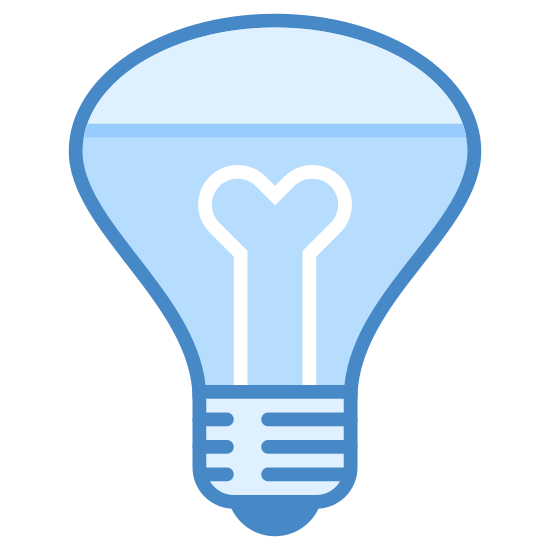 Reflector Bulb icon. This is a lightbulb icon. It is shaped like a funnel, with a very wide end at the top then it tapers off towards the bottom. At the bottom, there's a very small black part which is the part that attaches into the fixture.