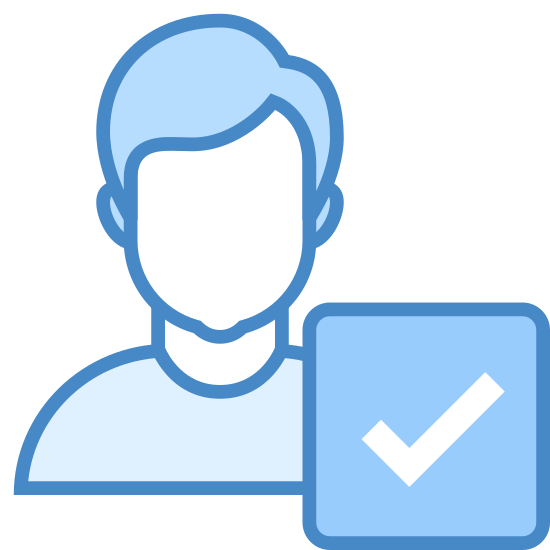 Apply icon. It is an icon depicting a male user.  There is the outline of a man's head, neck and shoulders with an arrow encased in a circle to the right.