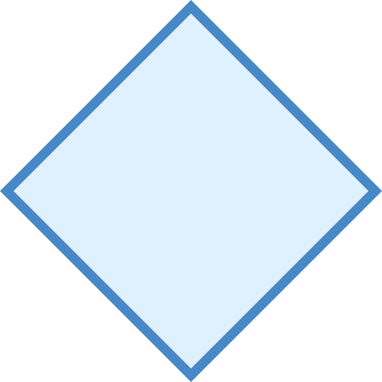 Rombo icon. The rhombus is the typical shape of most modern baseball fields. It is a square, an object with four lines and four points connected together, but laying on a point instead of one of it's sides.