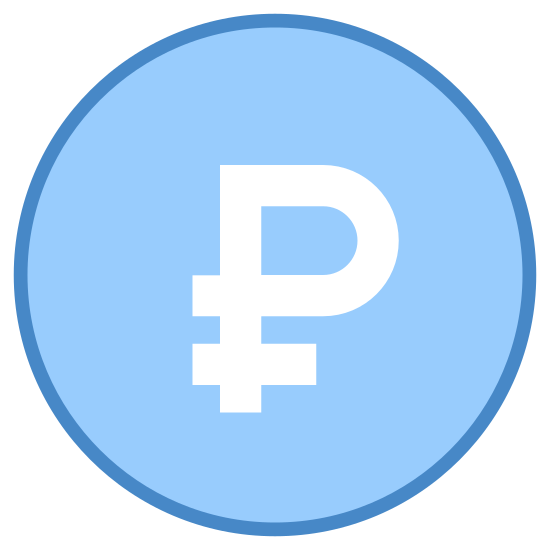 Rouble icon. There is a circle with a shape inside. there is a p that has a horizontal line at the bottom stick of the P.it covers the majority of the circle