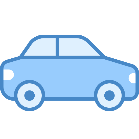 Sedan icon. A sedan is a car. The roof is enclosed and you can fit four or more people in it. They have 2 to 4 doors. They are usually good on gas.