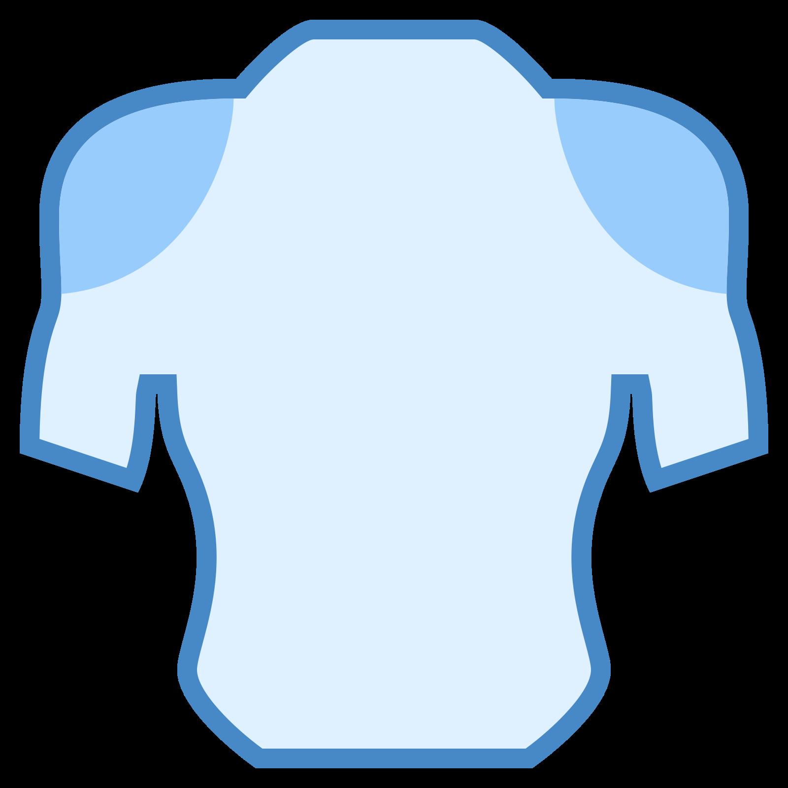 肩 icon. It is an icon with lines that outline the chest and upper portion of arms on the human body. There are two circles right where the shoulders would be. Each circle has multiple dots inside of them.