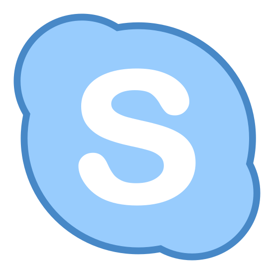 """Skype icon. This is a skype icon. An oval with protrusions on the upper left and bottom right encase a bubble letter """"s"""" that sits in the middle of the oval shape."""