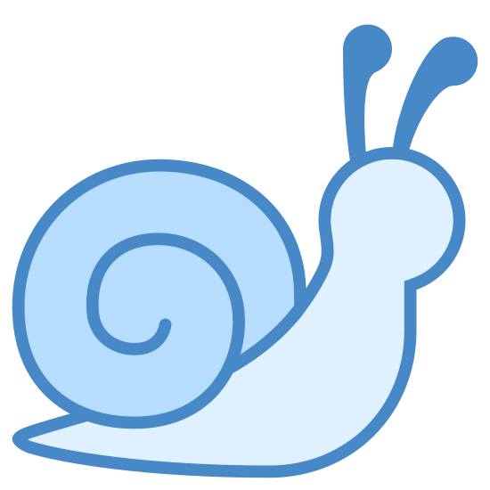 Snail icon. This is an eyeless image of a snail. The clip-art has a swirly shell on the slug's back and two antennas. This is an iOS7 icon that is found in the animal category.