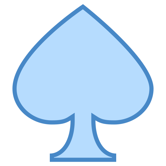 Pik icon. It's a drawing of a spade.  The image looks like a spade that you would find on a playing card.  The body of the spade is perhaps more prominent than the stem of the spade compared to a conventional spade drawing.