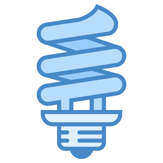 Żarówka spirala icon. It's a logo of Spiral Bulb reduced to a bulb with a spiral light. This light bulb is like a normal bulb except the bulb part is a spiral instead.