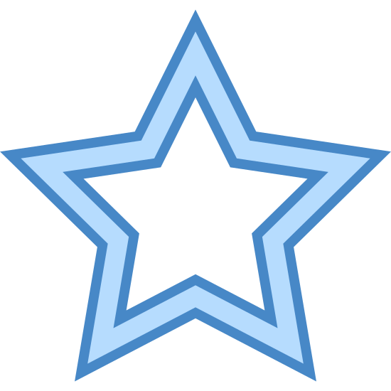 星 icon. A star has five pointed sides which are basically mini triangles all linked together at the seam. It is often seen in the sky at nighttime.