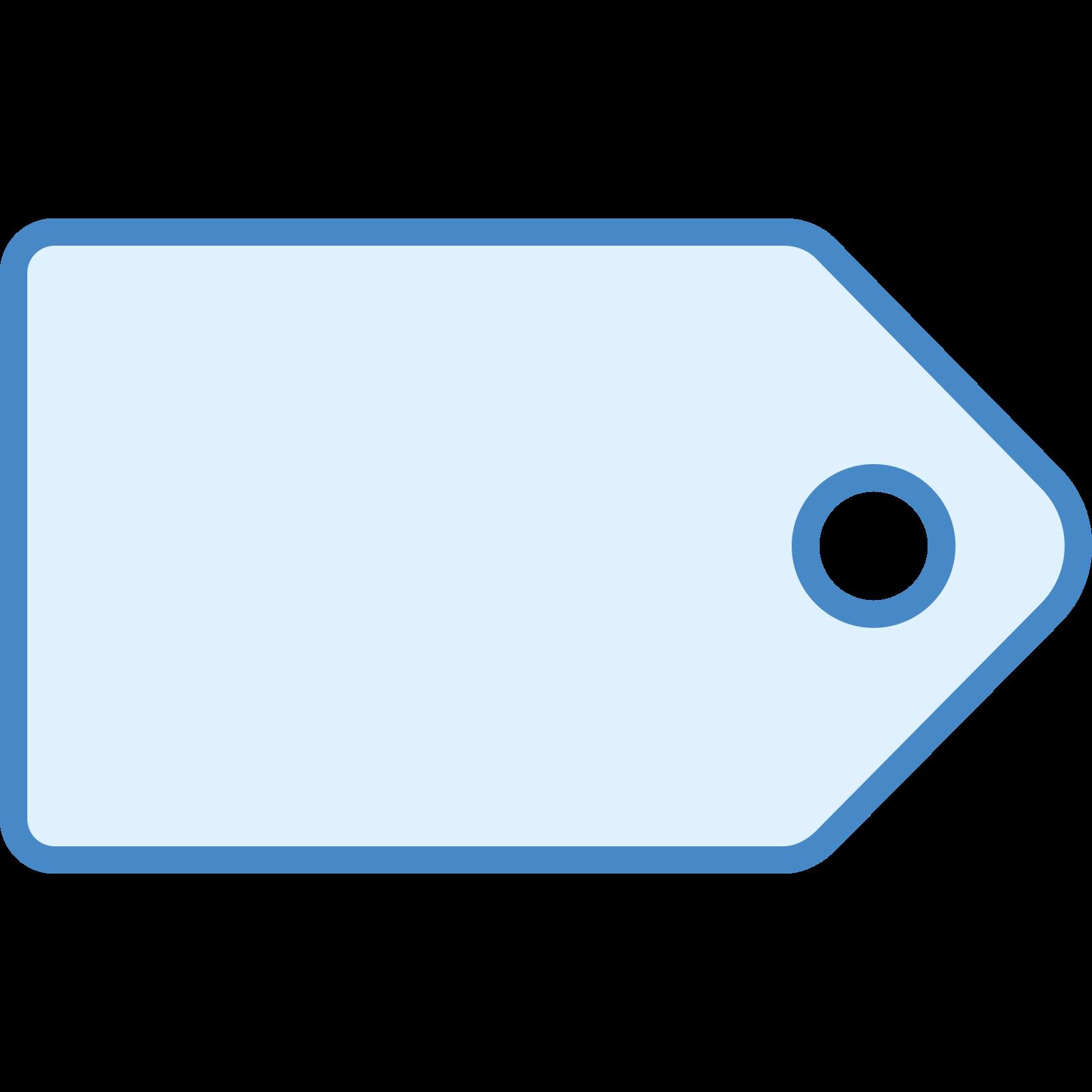 Étiquette icon