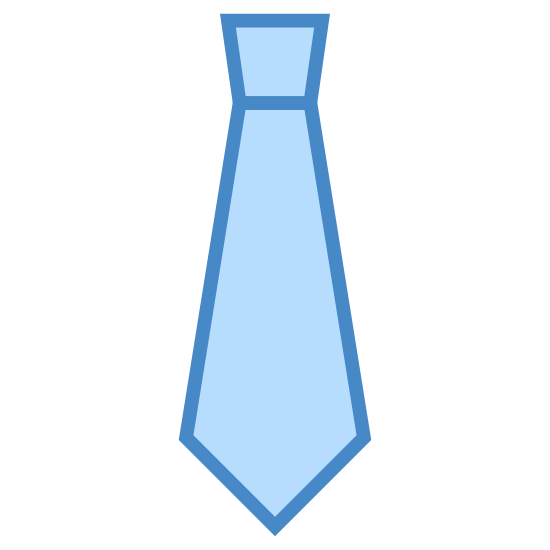 Tie icon. A tie is a fabric that goes around your neck and then knotted to keep it in place. It creates a criss-cross pattern, and lays down your chest to your stomach over clothing. It is a triangle like figure at the top, with fabric criss-crossed under it and the rest drapes down your shirt.