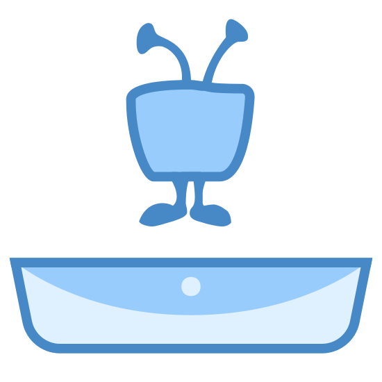 TiVo icon. This looks like a television with two feet and two antennae. The television is above a long envelope.