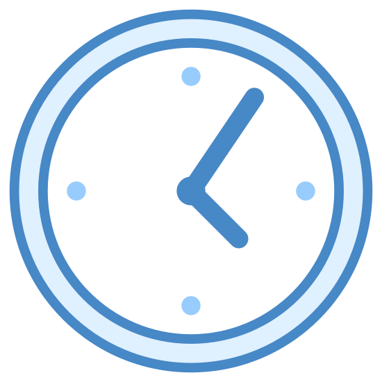Zegarek icon. This is a picture of just the face of a watch. It has a small arm which shows you the minute, and a larger one which shows you the hour. It seems to be pointing towards 5:10, although there are no numbers pictured.