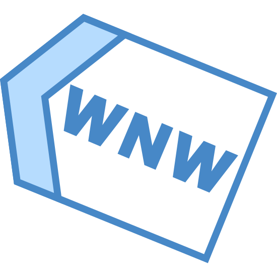 "West North West icon. The icon is an arrow shape, pointing to the upper left, towards the map direction of west by north west. Inside the arrow shape are the letters ""WNW""."