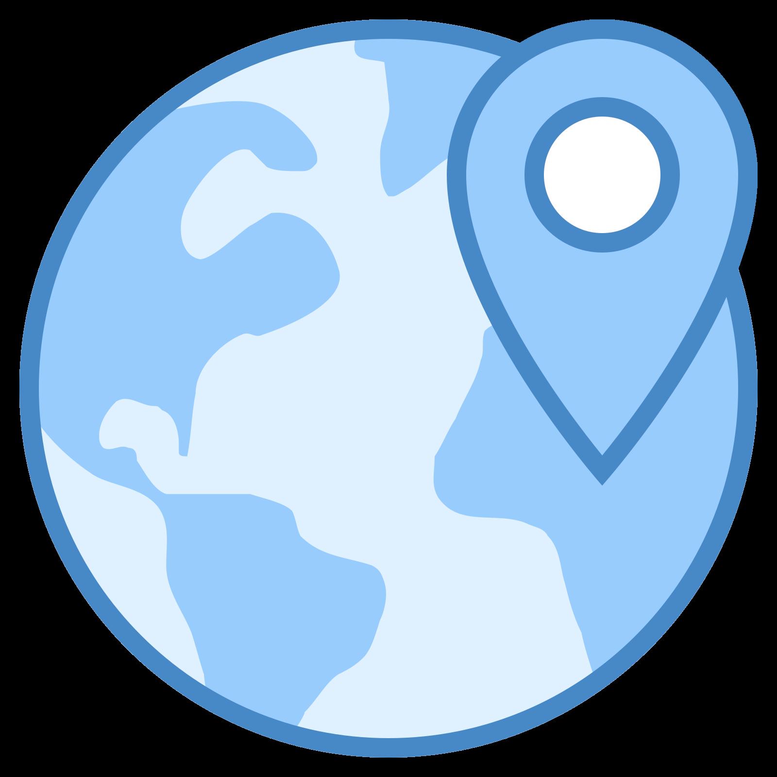 Localização mundial icon