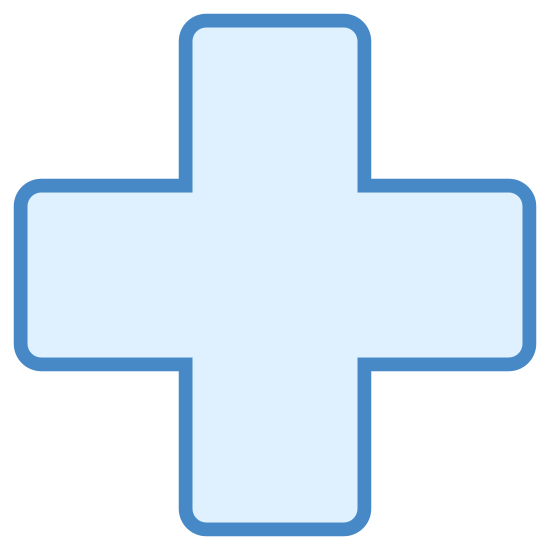 Xbox Krzyżyk icon. There is a cross. they are all the same size. the cross is somewhat small and has 12 different angles to it. every part seems just as equal in length to one another.