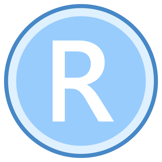Xbox R icon. The icon is consists of two concentric circles with little space between them, the center of which is inscribed with an upper case R. The icon is representative of the R shoulder button on an Xbox 360 controller, usually indicating a quick-time event where the button must be pressed within a certain time frame to continue gameplay.