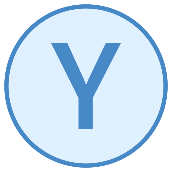 Xbox Y icon. It's a logo of Xbox Y. It is pretty much reduced to the capital letter Y. The letter Y is enclosed by a circle that causes the border of the Logo.