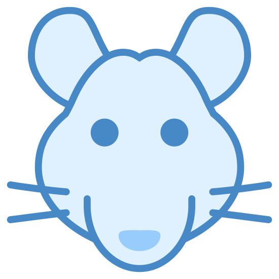 Rat icon. This is an icon depicting the year of the rat. It has an image of a rat