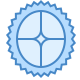 Blue UI icon
