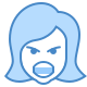 Angry Female Emoticon icon