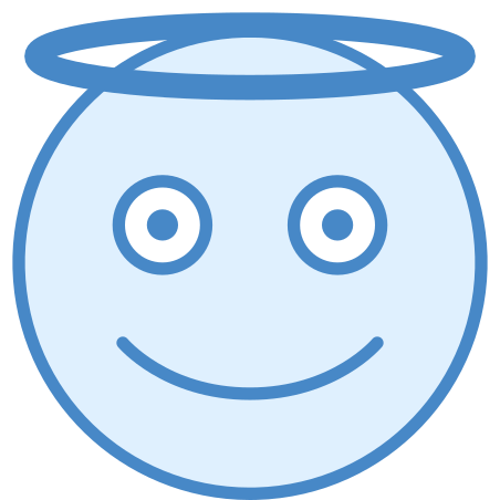 Angel icon in Blue UI