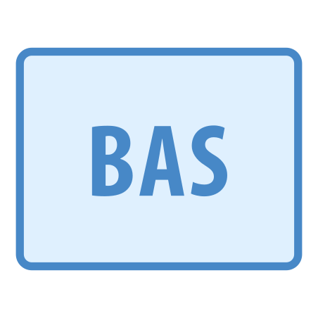 BAS icon in Blue UI