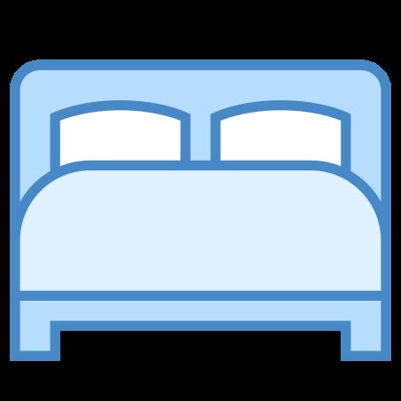 침대 icon in 파란색 UI
