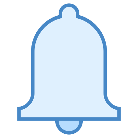 Bell icon in Blue UI
