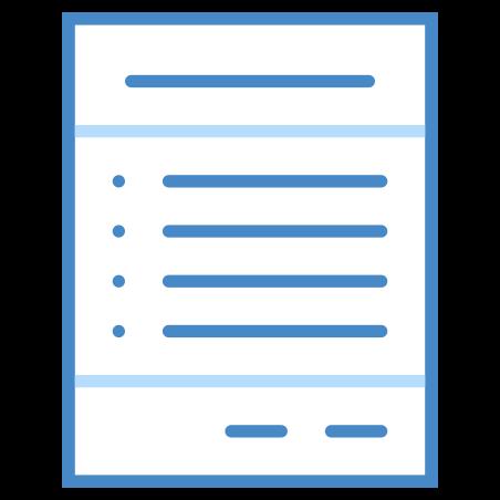 Bill icon in Blue UI