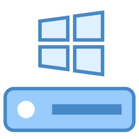 C Drive icon in Blue UI