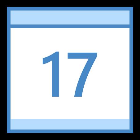 Calendar 17 icon in Blue UI