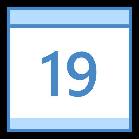 Calendar 19 icon