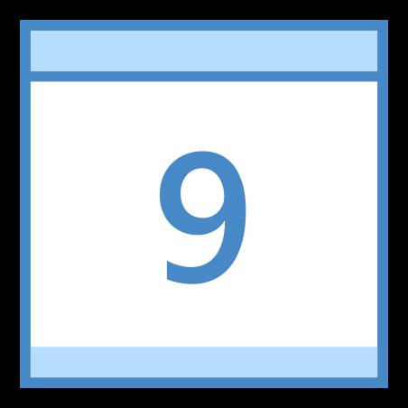 Calendar 9 icon