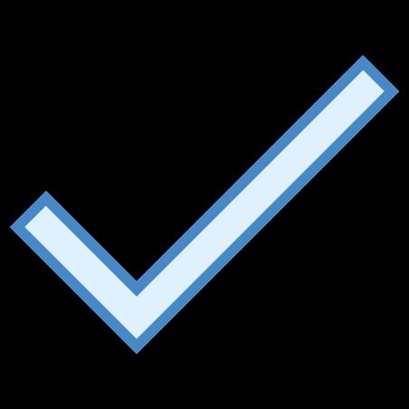 Checkmark icon in Blue UI