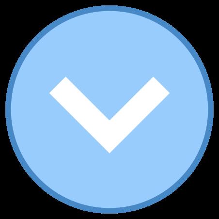 Шеврон вниз в круге icon