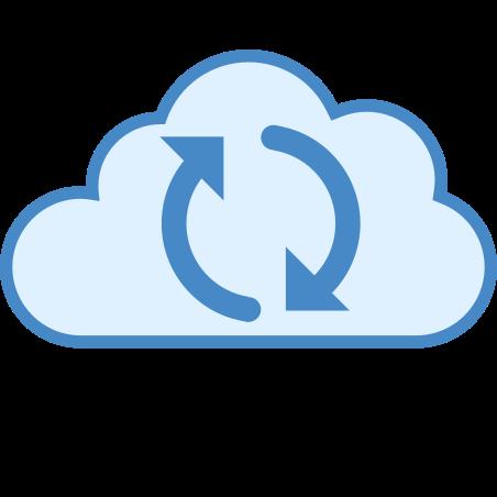 Cloud Sync icon in Blue UI