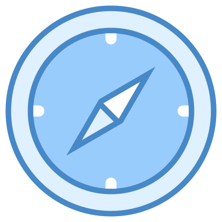 Compass icon in Blue UI