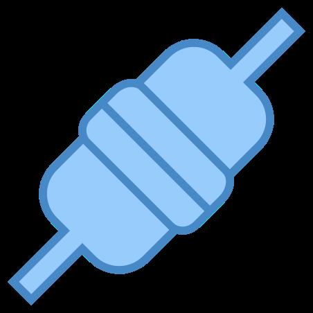 연결 icon in 파란색 UI
