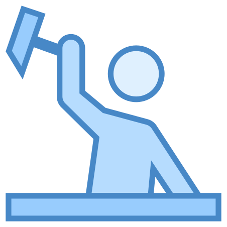 Construction Worker icon in Blue UI