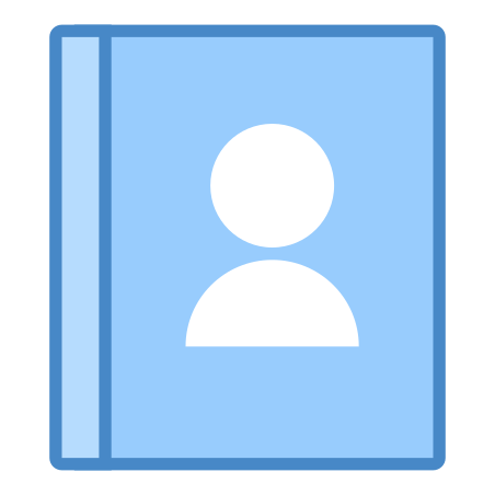 Contacts icon in Blue UI
