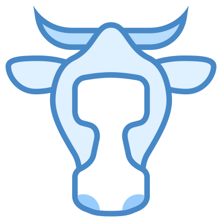 Cow icon in Blue UI